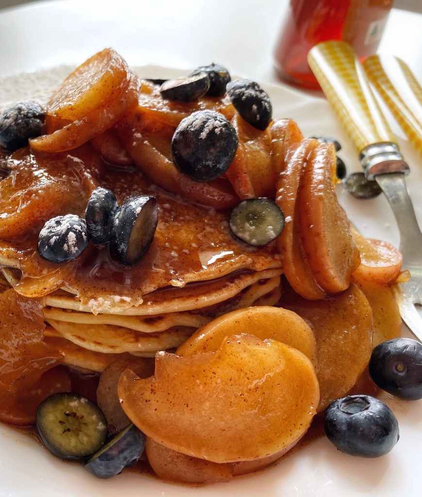 Warm Cinnamon-Apple Topping for Pancakes